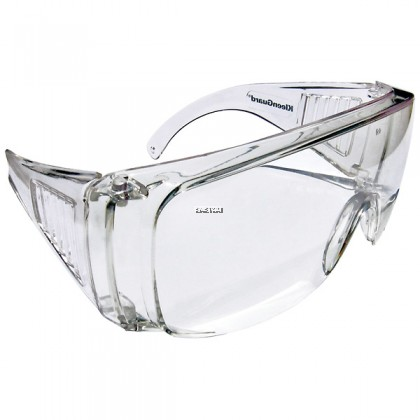 KIMBERLY-CLARK JACKSON SAFETY* 16727 V10 UNISPEC* II SAFETY GLASSES, CLEAR HARDCOATED LENSES WITH CLEAR TEMPLES - 1PCS