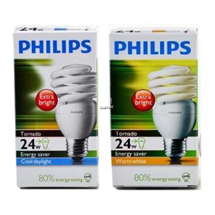 PHILIPS TORNADO 24W E27 220-240V 6500K COOL DAYLIGHT