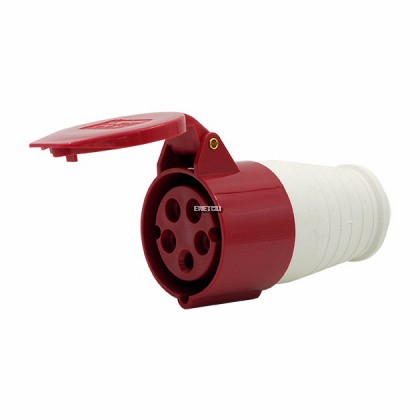 XGH CONNECTOR SOCKET 32A, 3P +N + E (RED) IP44