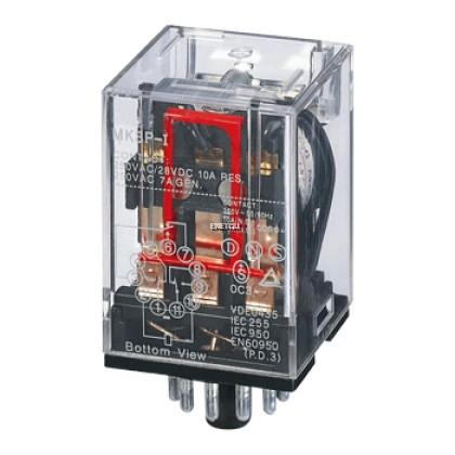YOSHINE MK3P-N 10A/250VAC GENERAL-PURPOSE RELAY 11P 3PDT C/W LED INDICATOR