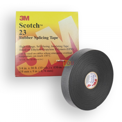 3M SCOTCH® 23 RUBBER SPLICING TAPE 19MM X 9.0 X 0.76MM (BLACK)