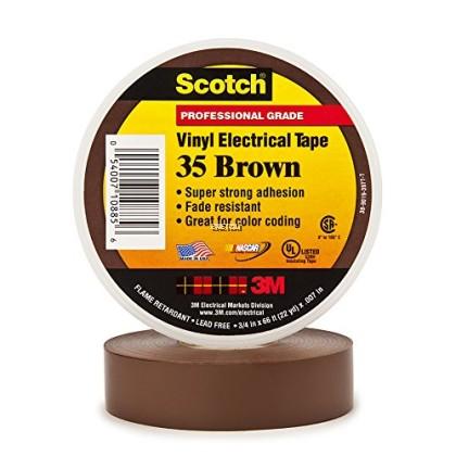 3M SCOTH® SUPER 35™ VINYL COLOR CODING ELECTRICAL TAPE 19MM X 20M