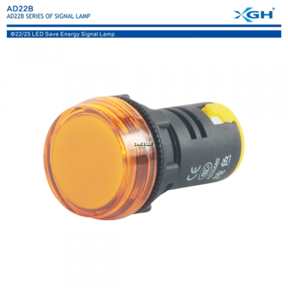 XGH AD22B-22BS (YELLOW) PILOT LIGHT WATERPROOF LED INDICATOR