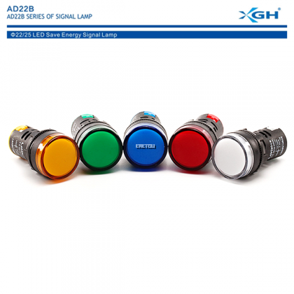 XGH AD22B-22BS (WHITE) PILOT LIGHT WATERPROOF LED INDICATOR