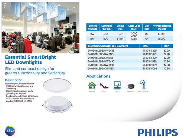 Philips Led Downlight Price List Philips Led Downlight 7w