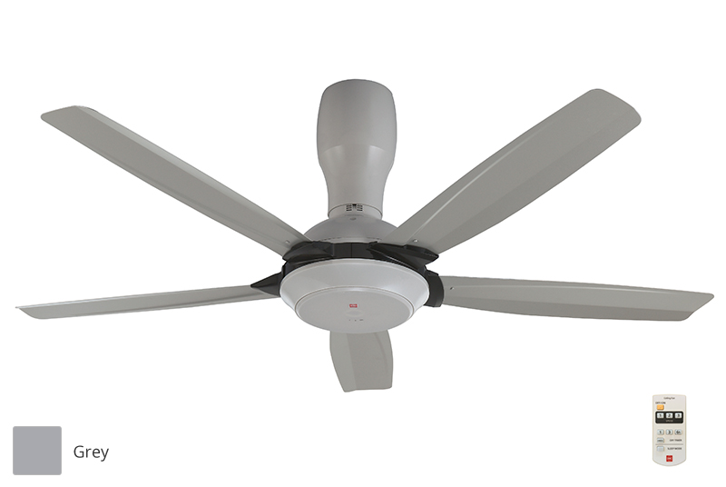 Kdk 56 5 Blades Ceiling Fan With Remote Control K14y5 Grey