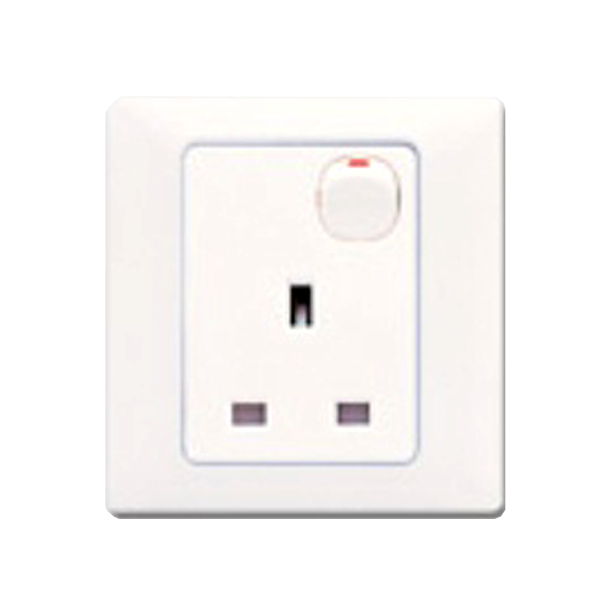 T Amp J Radiance Blanc 13a 1 Gang Switched Socket Outlet White