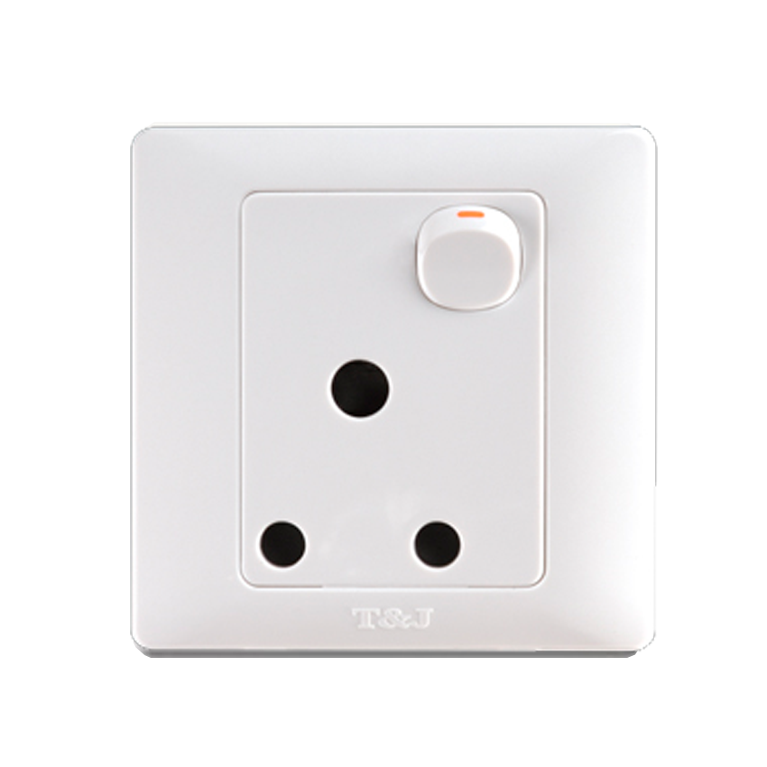 T Amp J Radiance Blanc 15a 1 Gang Switched Socket Outlet White